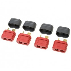 G-Force Connector Deans Gold Plated w/ Cap Female (4 Pcs)