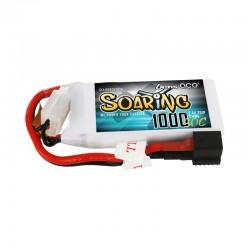 Gens Ace Soaring 1000mAh 7.4V 30C 2S1P Lipo Battery Pack with EC3/XT60/T-plug
