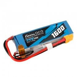 Gens Ace 1600mAh 7.4V 45C 2S1P Lipo Battery Pack with XT60 Plug