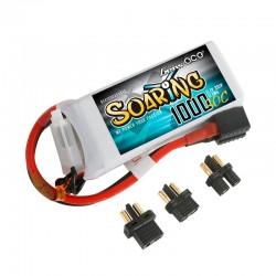 Gens Ace Soaring 1000mAh 11.1V 30C 3S1P Lipo Battery Pack with EC3/XT60/T-plug