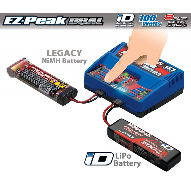 traxxas ez peak dual 8 amp 100 watt nimh lipo charger. Black Bedroom Furniture Sets. Home Design Ideas