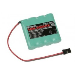 Graupner Receiver battery 4NH-2000 RX RTU flach,JR S