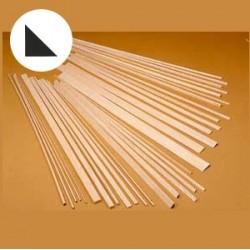 Longarina triangular balsa 15x15x1000mm