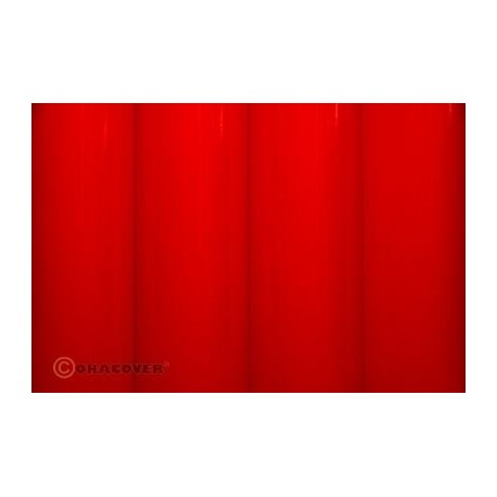 Oracover - Fluorescent red L- 60cm x C- 1m