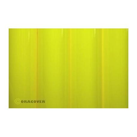 Oracover - Fluorescent yellow L- 60cm x C- 1m