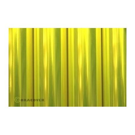 Oracover - Transparent fluor. yellow L- 60cm x C- 1m