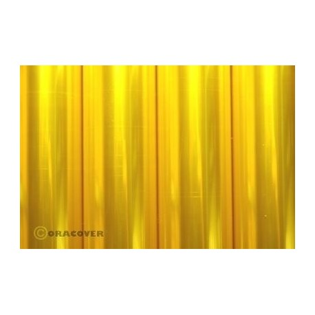 Oracover - Transparent yellow L- 60cm x C- 1m
