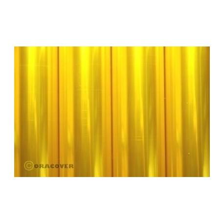 Oracover - Transparent yellow L- 60cm x C- 1m
