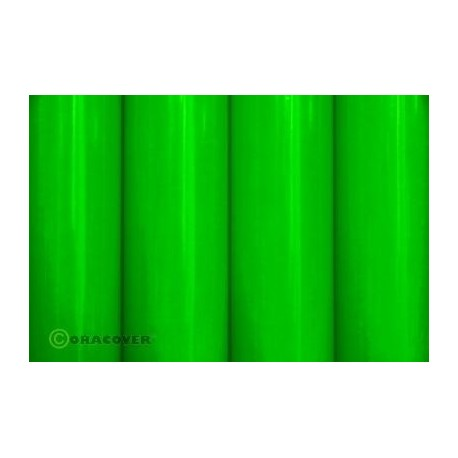 Oracover - Fluorescent green L- 60cm x C- 1m