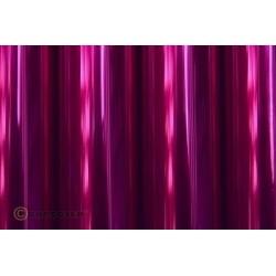 Oracover - Transparent magenta L- 60cm x C- 1m