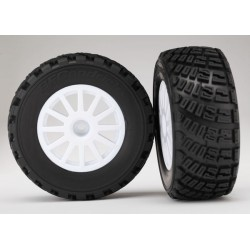 Traxxas 7473 White Wheels BFGoodrich Rally Gravel & Tires