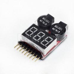 Tester de Baterias LiPo com Alarme