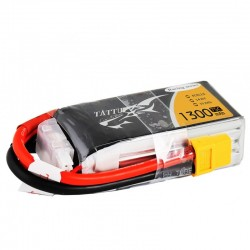 Tattu 1300mAh 14.8V 75C 4S1P Lipo Battery