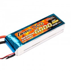 Gens Ace 6000mAh 11.1V 35C 3S1P Lipo Battery