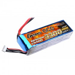 Gens Ace 3300mAh 14.8V 25C 4S1P Lipo Battery Pack