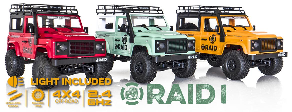Funtek 4x4 Raid Version 1 1/12 RTR