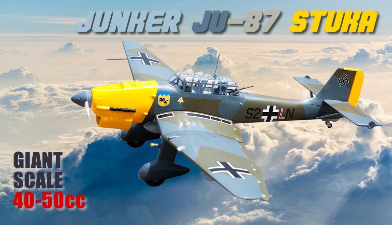 Seagull JU-87 Stuka Giant Scale 40-50cc 2286mm