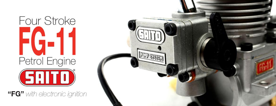 Saito FG-11 Four-Stroke Petrol Engine 11cc