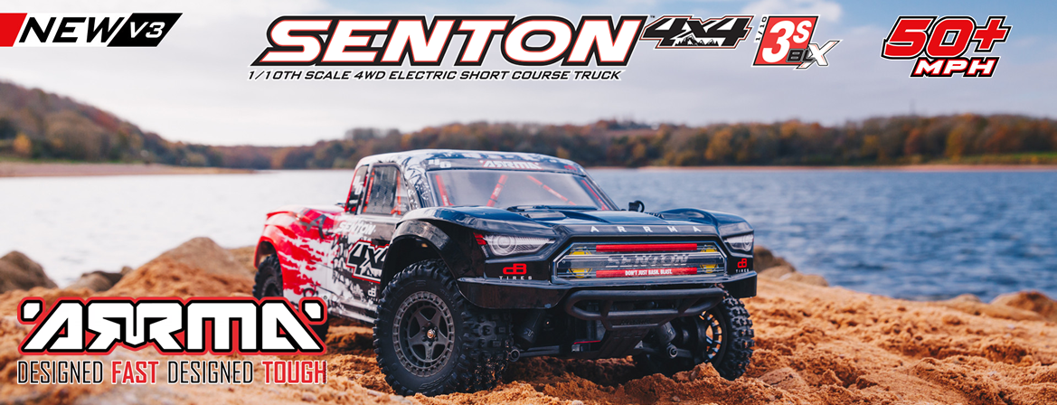 ARRMA Senton 4X4 3S BLX Brushless 1/10TH 4WD Short Course (Red)