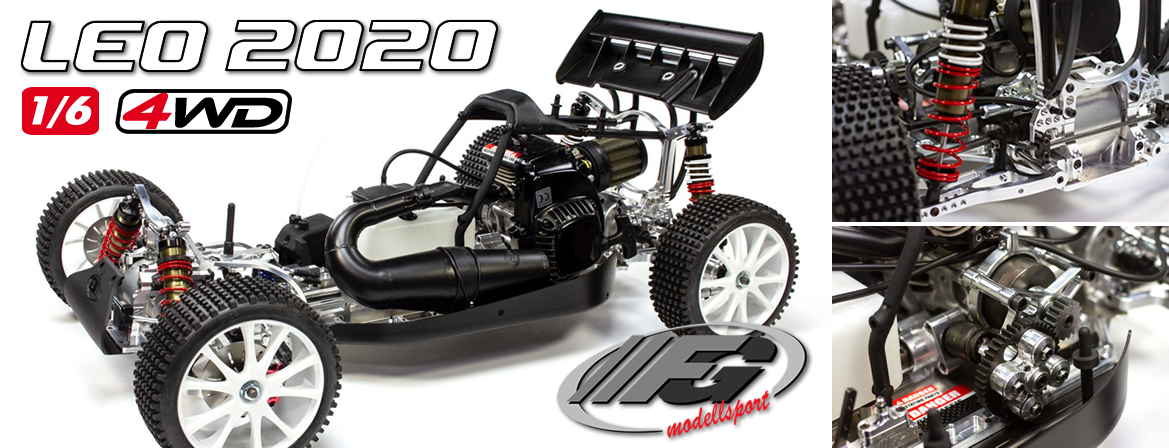 FG Leo 2020 2.0 4WD Competition Zenoah 26cc 1/6 Clear Body
