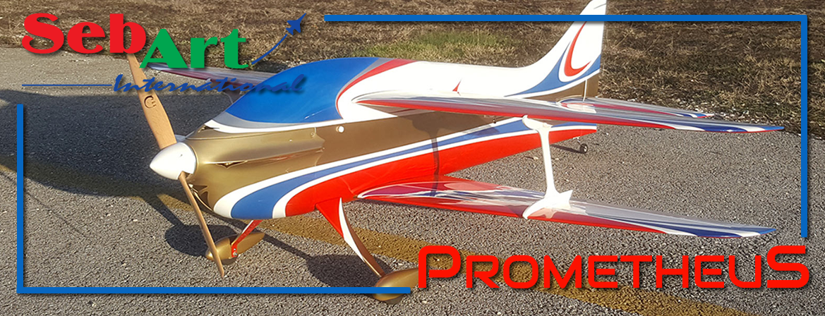 Sebart PrometheuS 50E Biplane Classic Red and Blue scheme