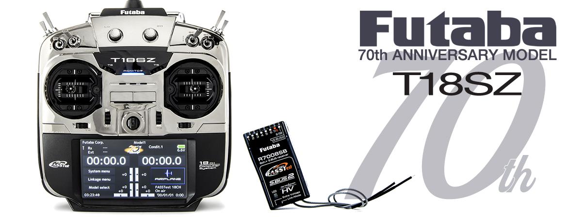 Futaba T18SZ FASSTest with R7008SB 70th Anniversary (Very Limited Edition)